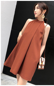 5,30 sản phẩm mới MMCO 2018 mùa hè mới mỏng dây đeo pleated eo ngắn ăn mặc nữ