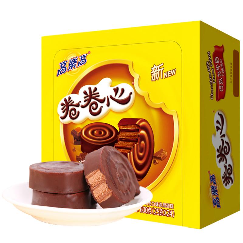 高乐高 巧克力味卷卷心蛋糕零食儿时怀旧糕点600g