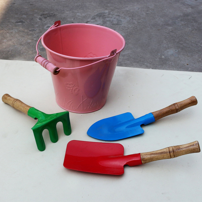 Garden Hand Tools Gardening Mini Shovel Child Shovel Hand Tool Planting Flowers Thicken Type Iron Shovel Garden Spade Digging Garden Tool 5 Color