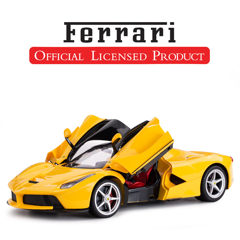 [Ferrari Enzo regular version yellow] double door can open front and rear lights USB charging