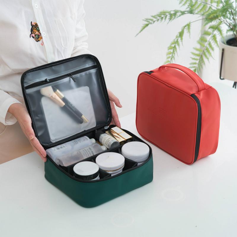 网红ins手提式大号化妆包 大容量韩国简约便携多功能化妆品收纳包_领取3元天猫超市优惠券