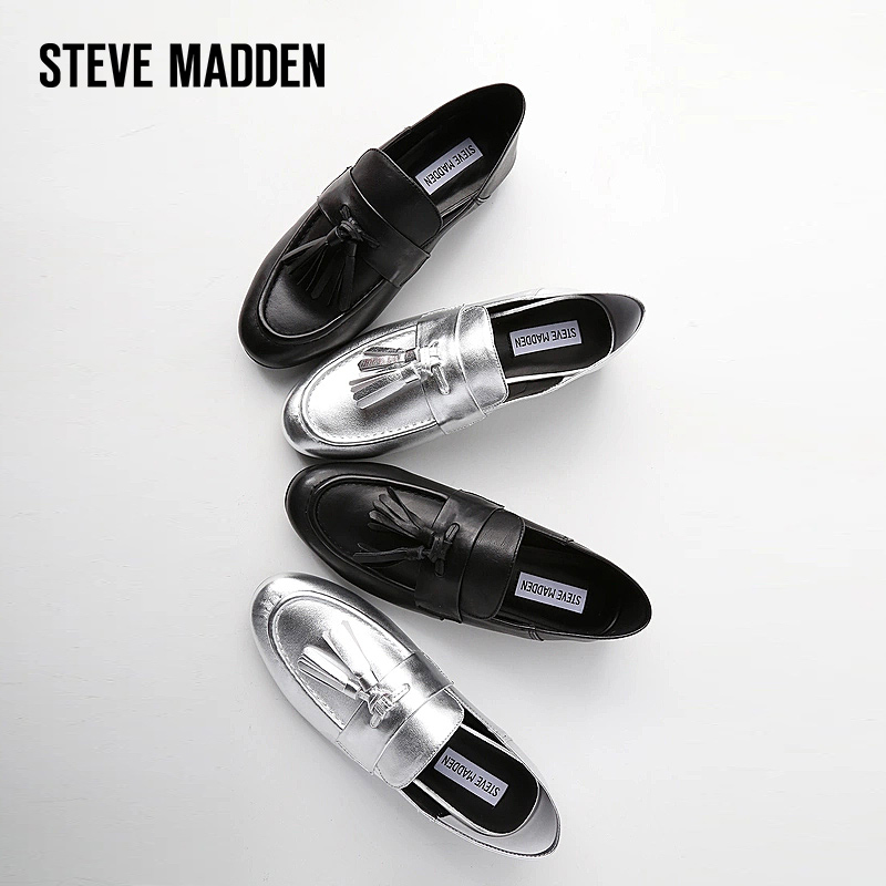 Steve Madden思美登女鞋2018新款女秋平底单鞋女乐福鞋女休闲BECK