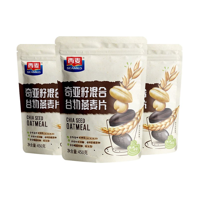 天猫超市西麦奇亚籽谷物燕麦片450g*3