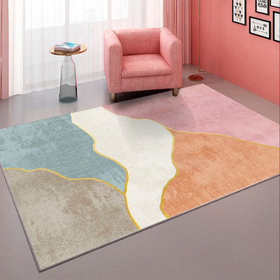 Nordic minimalist style geometric carpet living room modern sofa coffee table cushion bedroom bedside household rectangular carpet