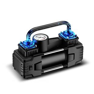 【真輝】雙缸車載便攜式輪胎多功能打氣泵