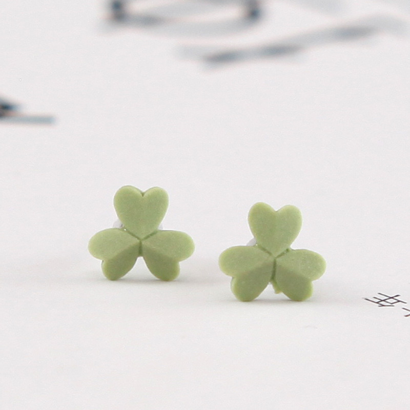 QingGe jingdezhen manual what lovely of the rabbit and have steel stud earrings earrings female lay in a supply of goods