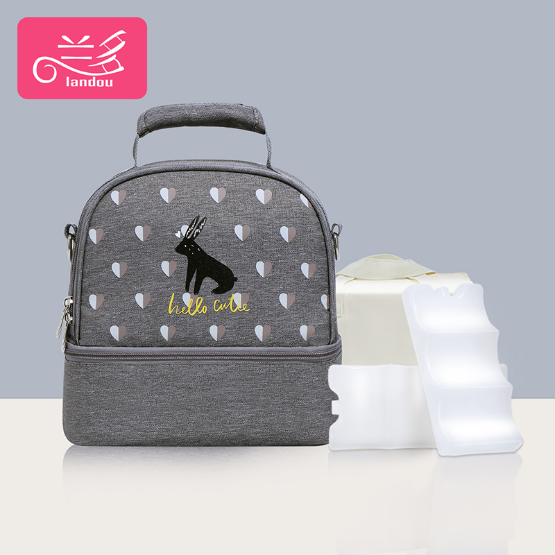 Elegant Gray [single Bag + Liner Bag + 2 Pieces Of Blue Ice]