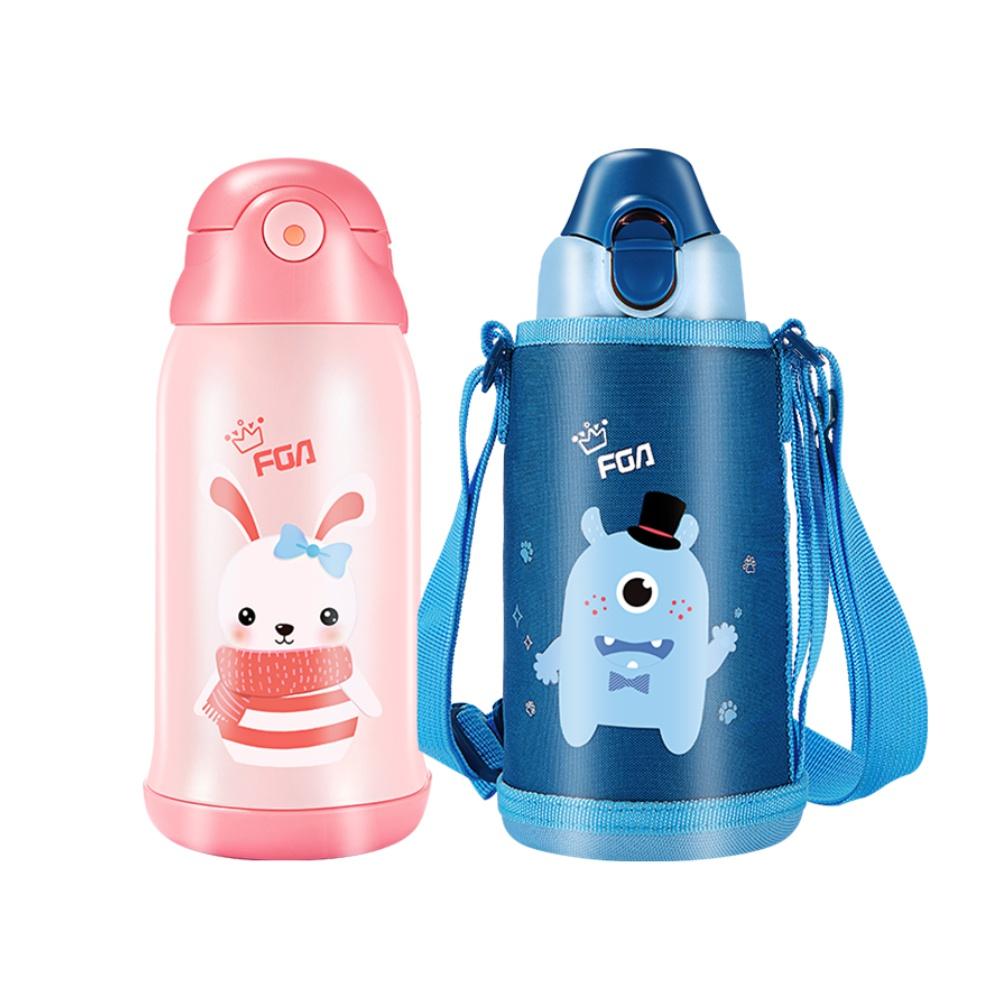 包邮 FGA儿童保温杯真空600ml幼儿宝宝学生吸管水壶316不锈钢便携