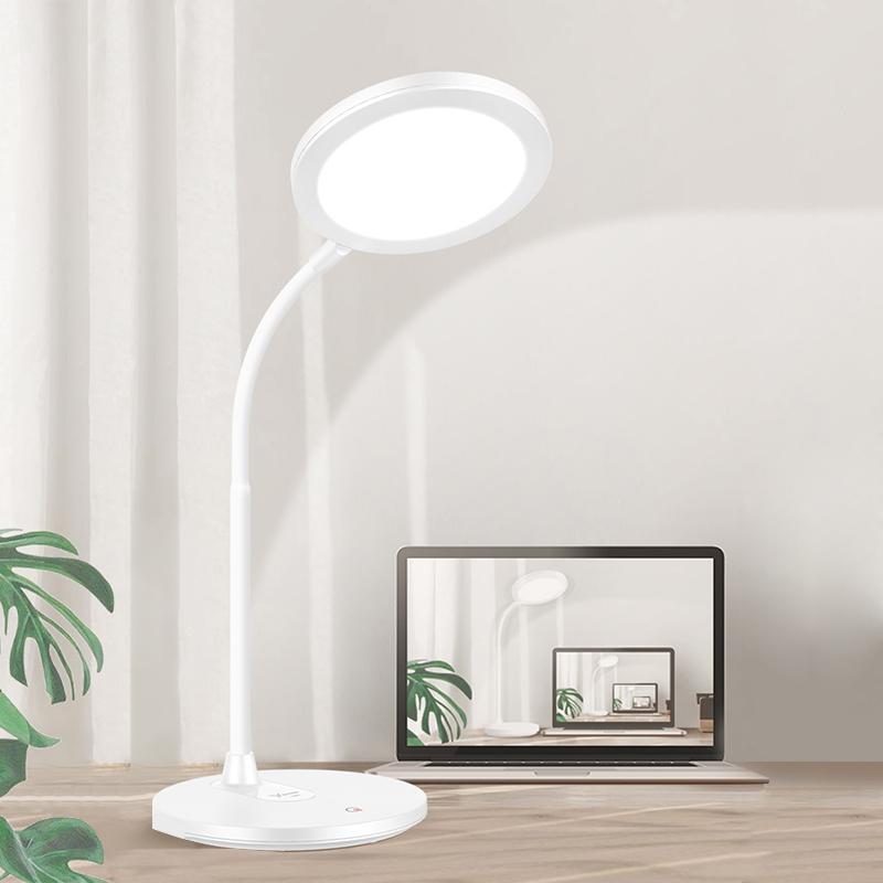 雅格臺燈護眼書桌大學生兒童保視力LED充電式宿舍臥室簡約床頭燈