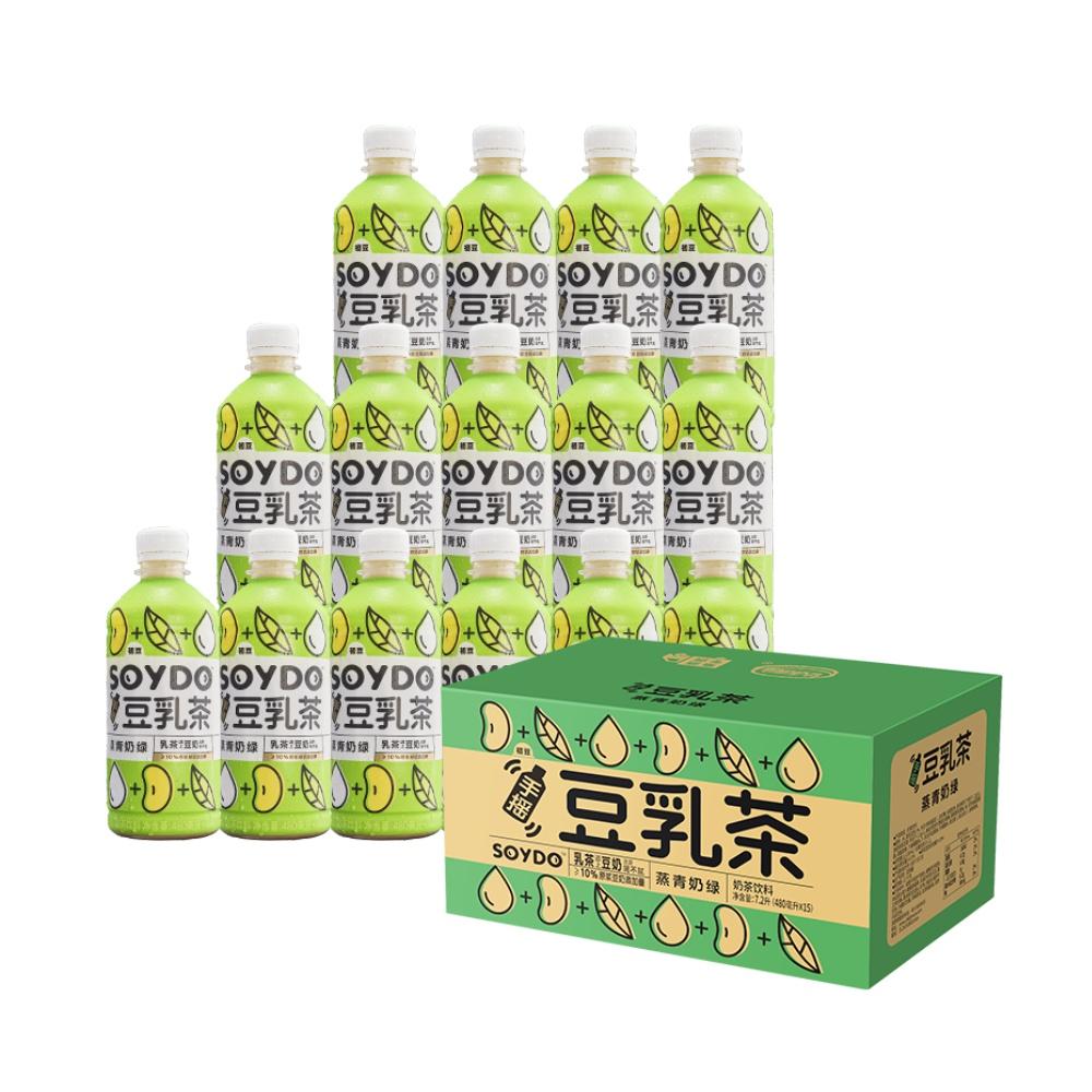 达利园茶饮料手摇豆乳茶燕青奶绿480ml*15瓶/箱办公室年货礼盒