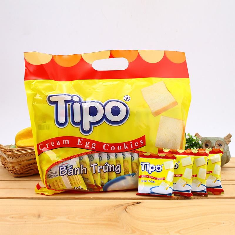 【进口】越南TIPO牛奶面包干原味早餐300g代餐饼干散装零食礼包