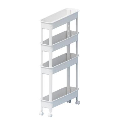 清清美夹缝置物架落地可移动小推车卫生间浴室收纳架厨房储物架子