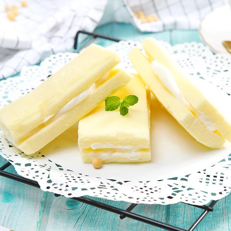 优尚优品豆乳蒸蛋糕夹心奶香下午茶点心500g休闲零食营养早餐面包