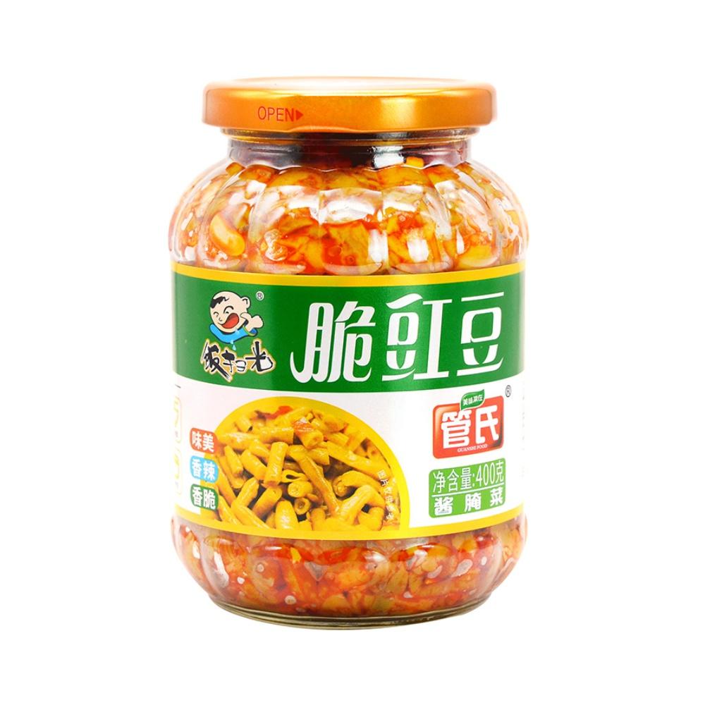 包邮 饭扫光酱菜泡菜榨菜下饭菜脆豇豆400g*1瓶酸豇豆酸豆角早餐