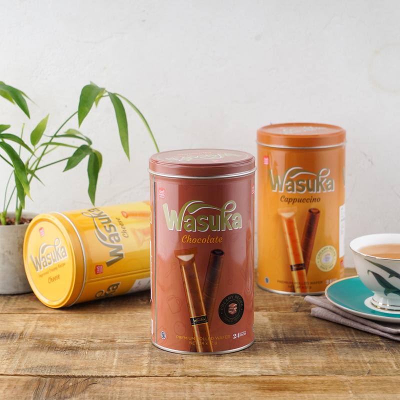 李佳琦推荐、爆浆口感:288gx3罐 印尼进口  哇酥咔 三口味爆浆威化卷