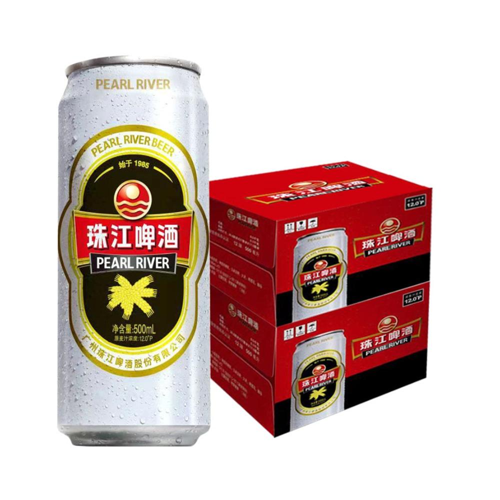 珠江啤酒12度500ml*24罐