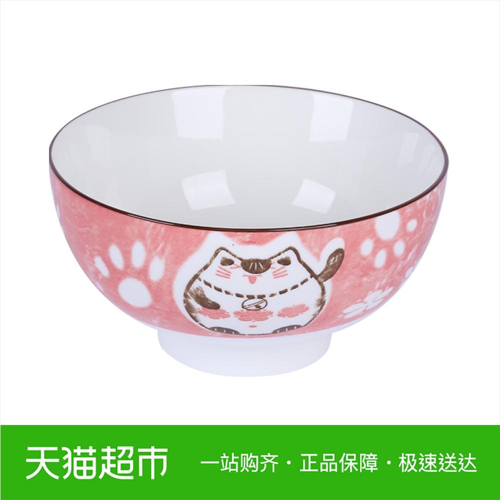 Arst / Yacheng De Lucky Cat Trải qua gốm sứ Bát 6 inch Bát súp Bát tô cao
