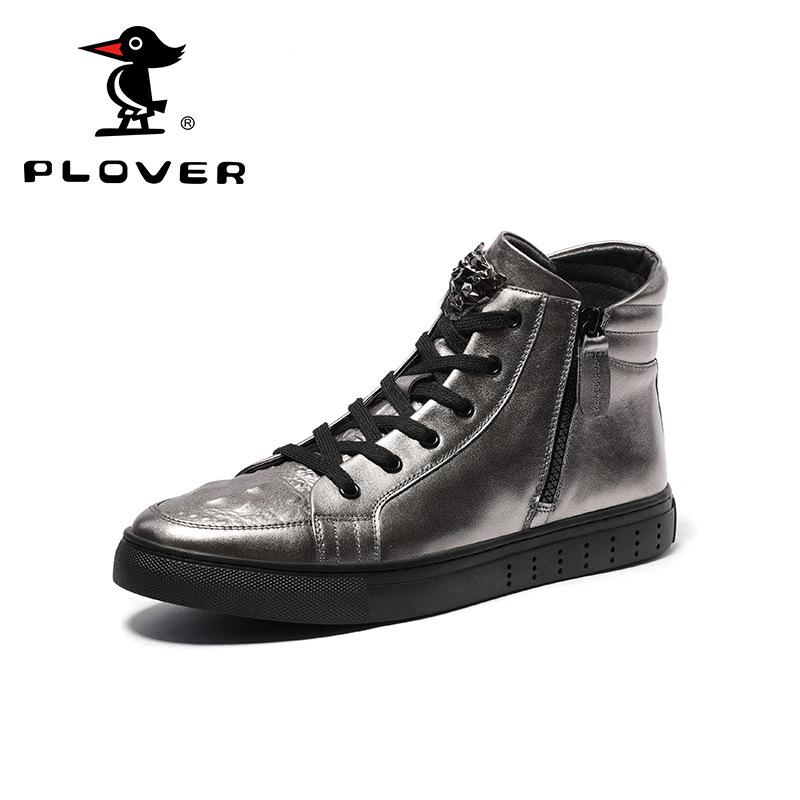 Mùa xuân và mùa hè người đàn ông mới của giày Châu Âu và Mỹ thời trang đinh tán giày cá tính cao để giúp giày hộp đêm sàn catwalk nhà tạo mẫu tóc xu hướng giày