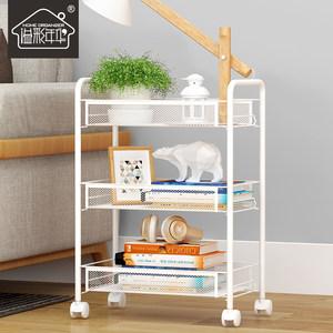厨房小推车置物架落地多层卧室浴室可移动带轮收纳菜篮架子手推车