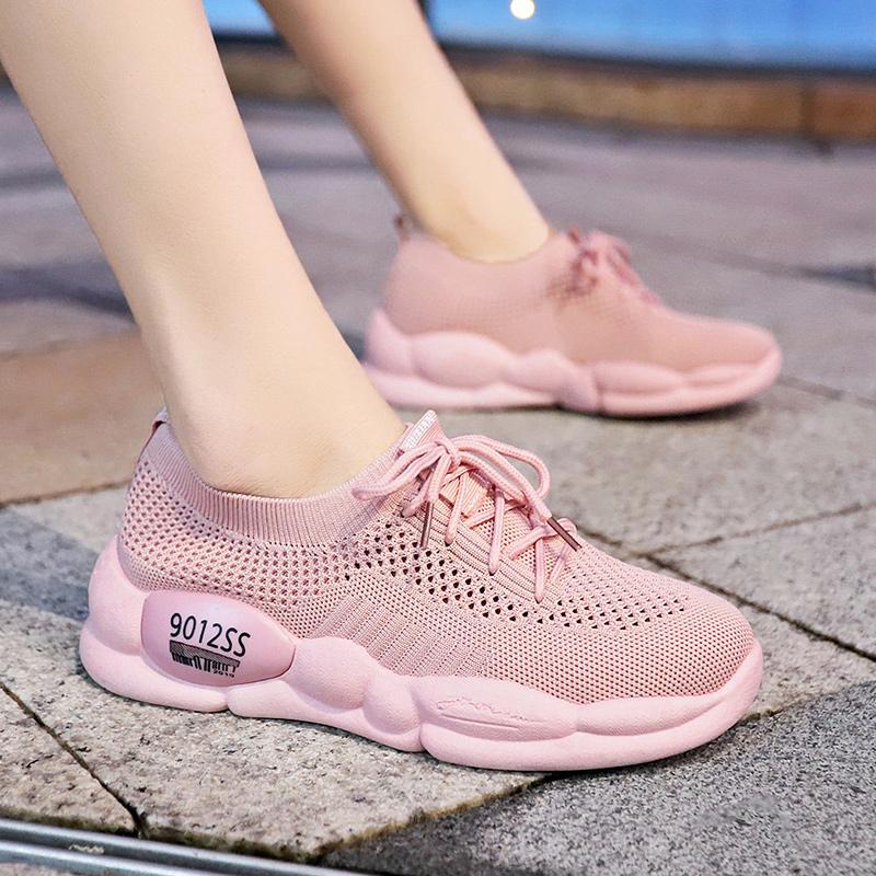 飞织网面透气运动鞋休闲跑步鞋