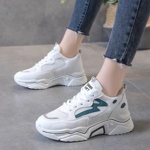 小白鞋ins老爹鞋透气跑步鞋