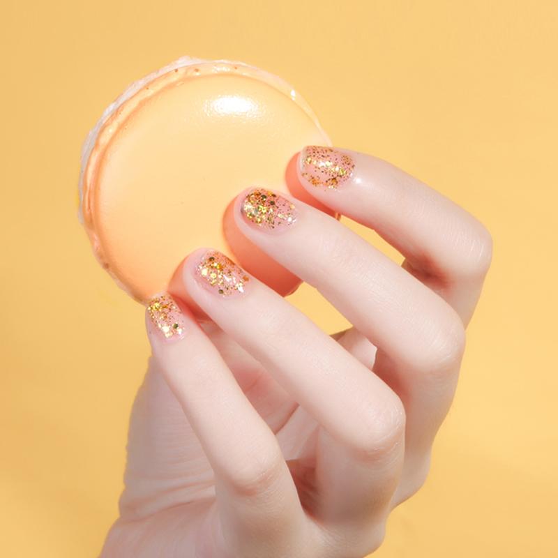 美潮 适合夏天的指甲油可剥无毒撕拉防水学生裸粉色渐变色显脚白