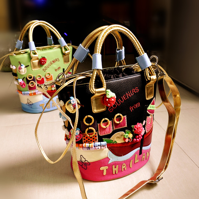 Usd 37 07 2019 New Korean Handbags Hand Embroidered Hit Color