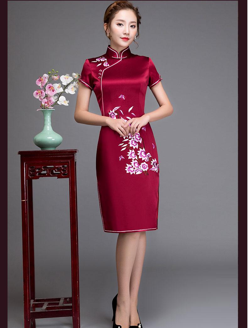 安婷妮菲中长款改良旗袍裙(二) - 花雕美图苑 - 花雕美图苑