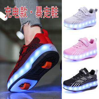 Роликовые кроссовки,  Лето меш сильный идти обувной девочки ребенок тандем деформировать шкив обувной мальчиков студент свет колесо обувной взрыв идти обувной, цена 1642 руб