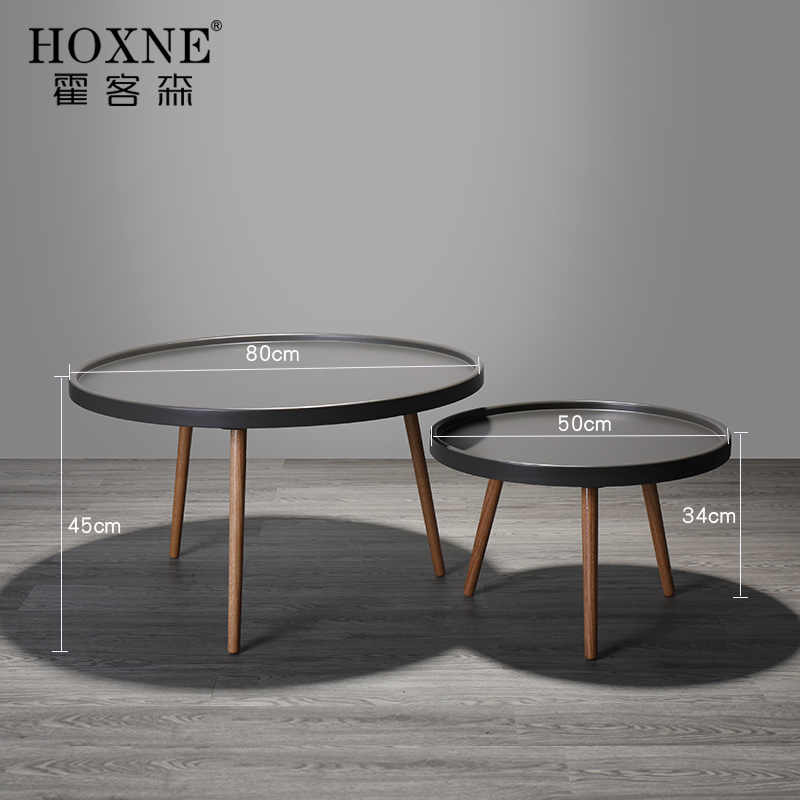 Round Coffee Table Measurements: Hokerson Nordic Coffee Table Small Round Table Solid Wood