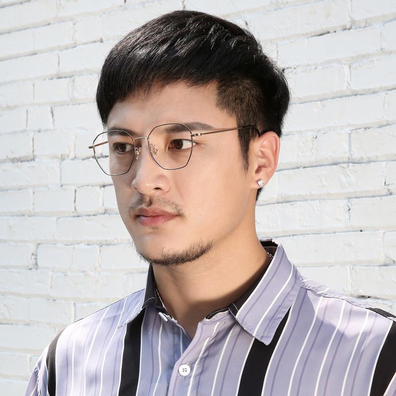 近视眼镜超轻纯钛男女全框眼镜架