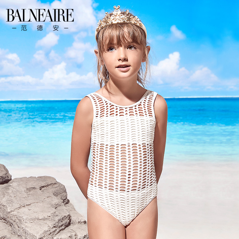 d3b52789496 Van der Ann Children's Jumpsuit Cute Girl Baby Beach Swimsuit Mid-Big Kids  Fake Two-piece Swimsuit