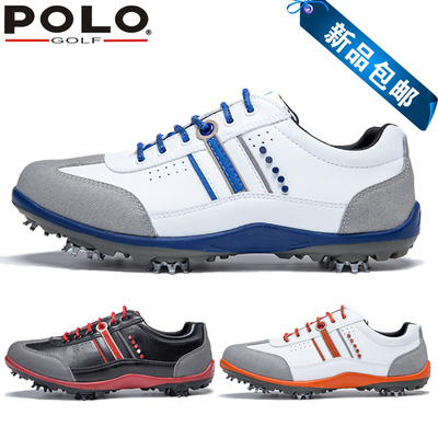 ! POLOGOLF new golf shoes men's casual shoes waterproof men's shoes handmade shoes