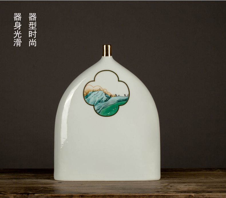 Ceramic vase furnishing articles sitting room creative dry flower flower vase vases, small expressions using narrow expressions using contracted water raise adornment