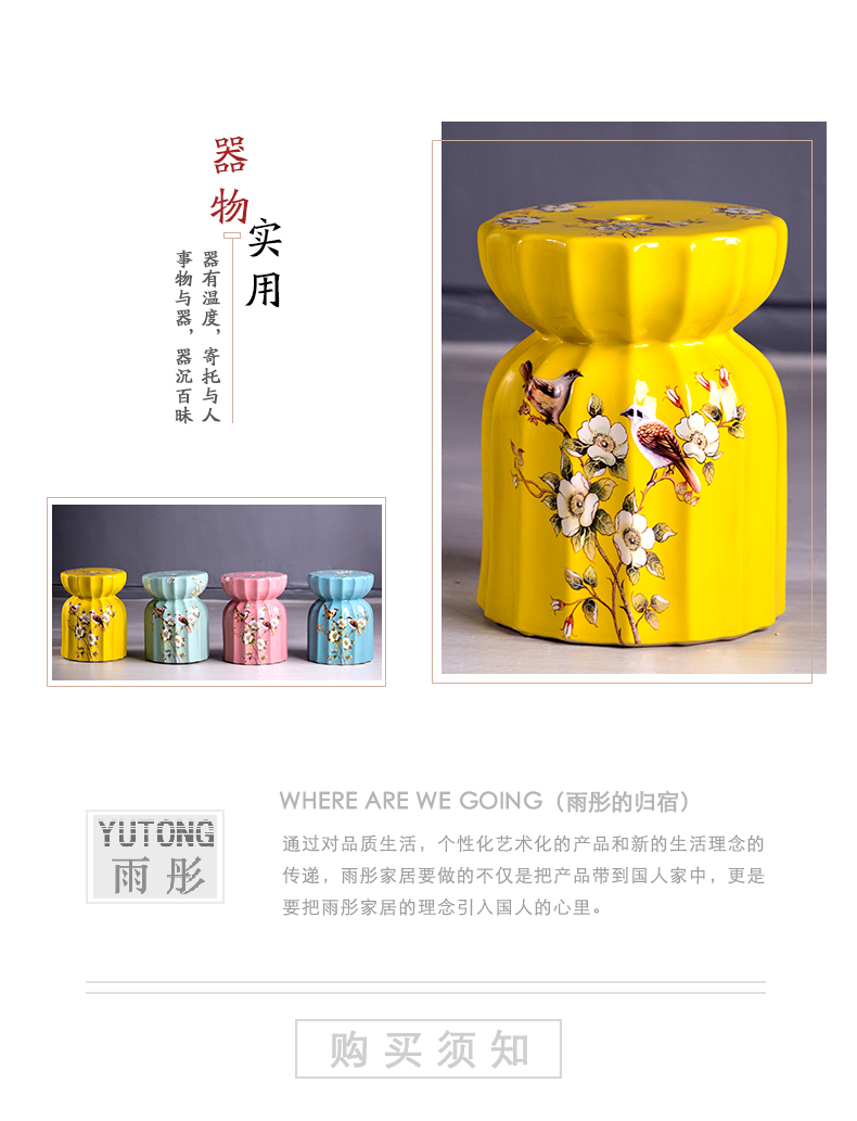 Jingdezhen high temperature ceramic drum who American country in shoes who with ceramic drum who archaize who pier embroidered pier