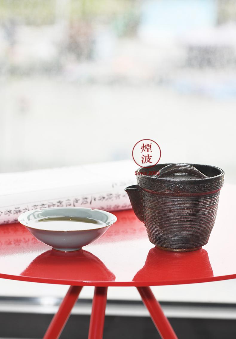 Japanese national treasure case before 焼 world yamamoto TaoXiu tie mu wen bats bridge picking firewood vitreous tea every Aquarius