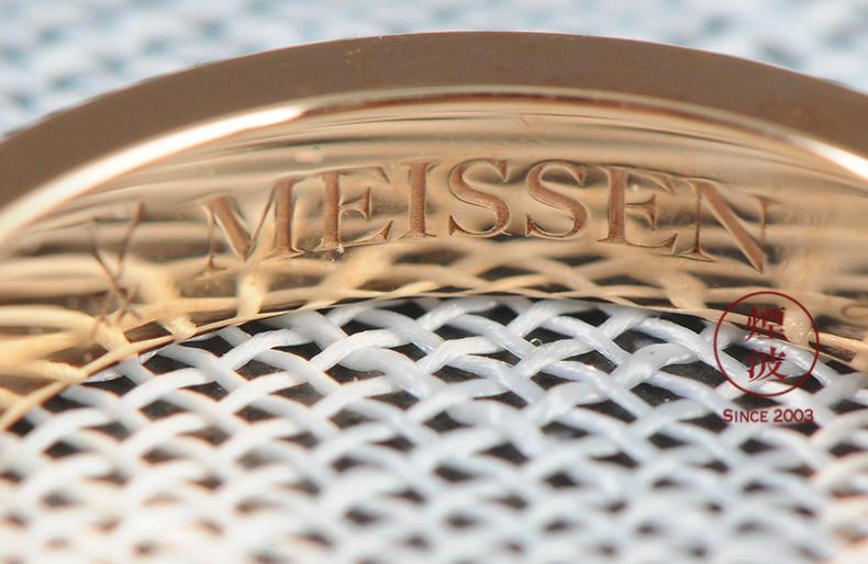 German Alliance mason MEISSEN porcelain love 18 k platinum rose gold sapphire ring