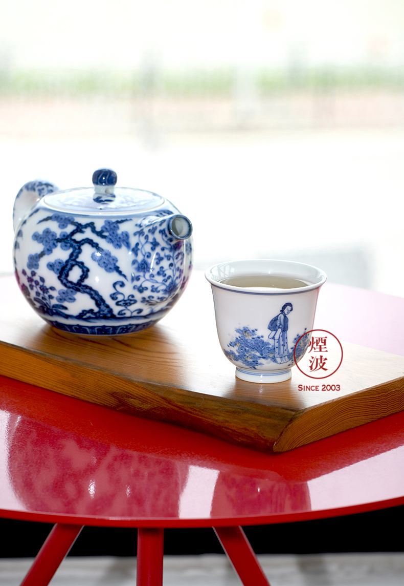 Those jingdezhen lesser RuanDingRong made lesser provoking a cup lady bell spring brightness