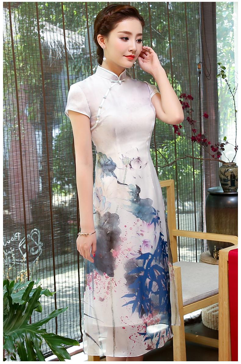 中国风格改良修身旗袍  (音画:荷花荡) - 津津的博客