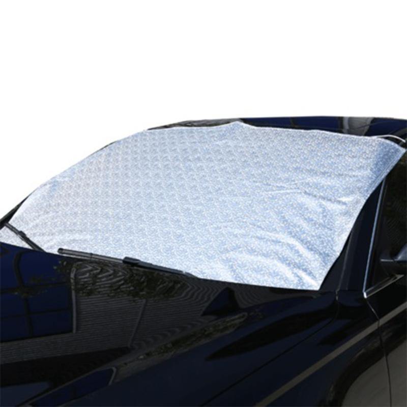 汽车前挡风玻璃防冻罩冬季遮雪挡防霜罩汽车风挡防雪布车衣半罩套