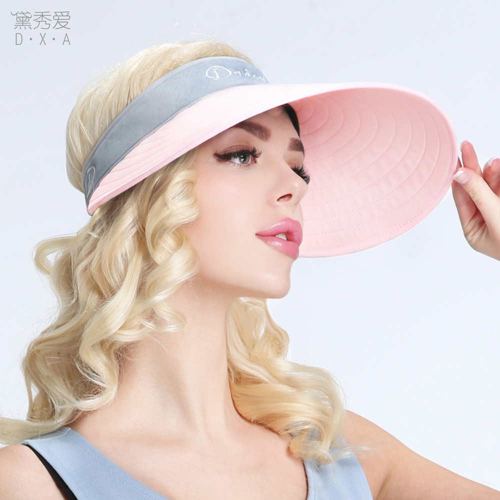 f737dcac666 Hat female Korean version of the spring and summer sun hat anti-UV large  outdoor
