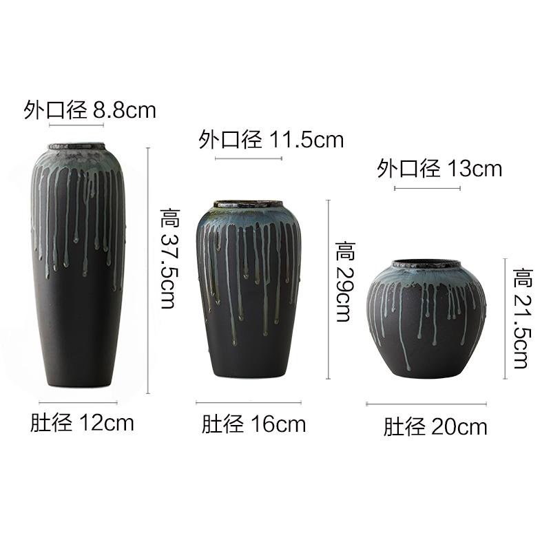 Clearance of jingdezhen ceramic retro big vase creative decoration rough TaoHua sitting room balcony decoration furnishing articles