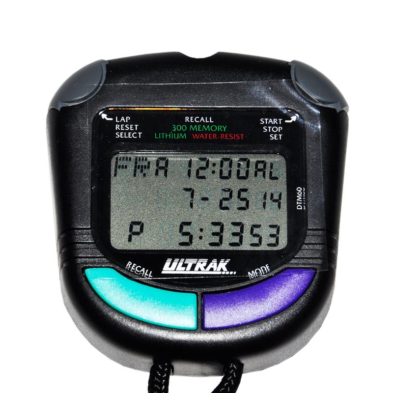 Решает вспомнить секундомер электрона /ULTRAK для того чтобы быть большим слово Три ряда дисплея корпуса спортивного таймера секундомера DTM60
