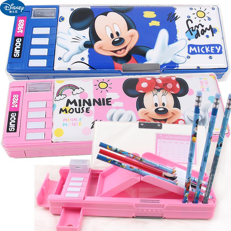 迪士尼米奇美国队长文具盒小学生多功能塑料铅笔盒男女童创意可爱