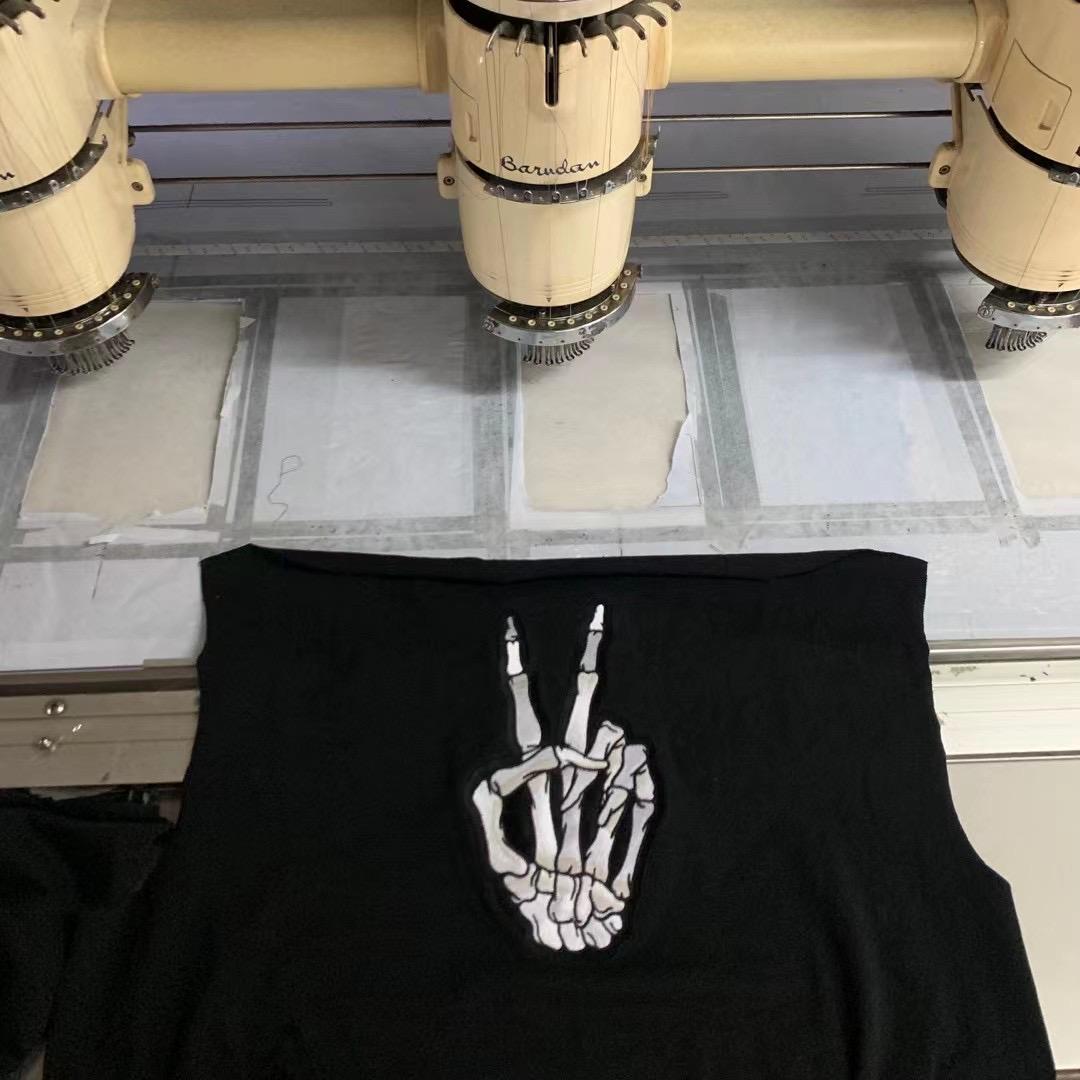 高街潮品 CAVEAT EMPTOR新款巴黎溶解笑臉骷髏手短袖BLCG男女情侶T恤夏季潮