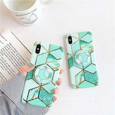 Irregular marble bracket case cover iPhone XR/678plus/xs max