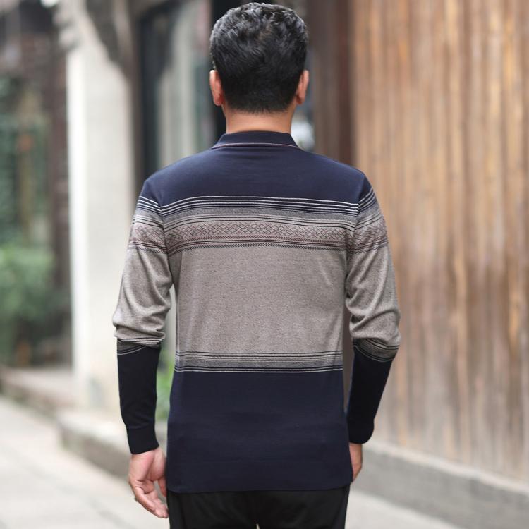 Cha ngắn tay t-shirt mùa hè 40-50 tuổi người đàn ông trung niên của mùa hè polo áo sơ mi trung niên cha dài tay quần áo