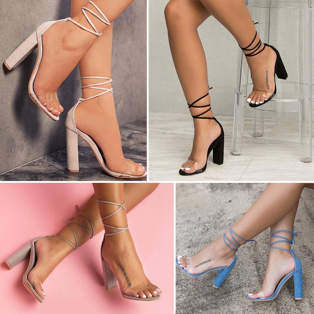 2017女凉鞋босоножки жен heel-strap sandals