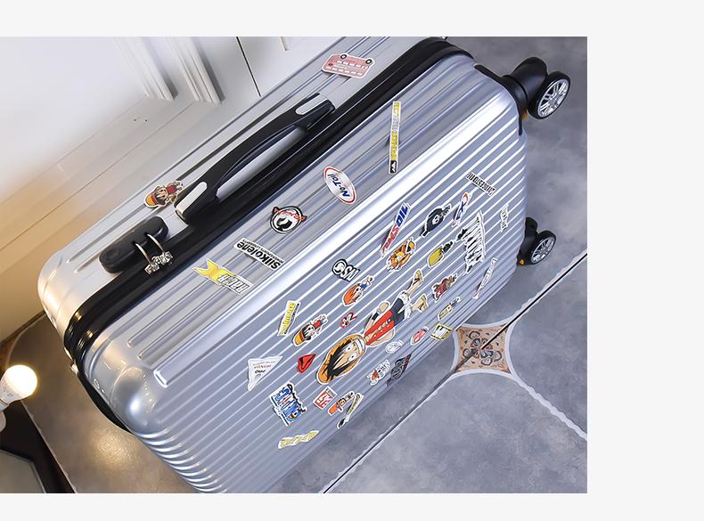 学生拉桿箱子男女行李箱包小型寸万向轮密码旅行箱轮子復古寸详细照片