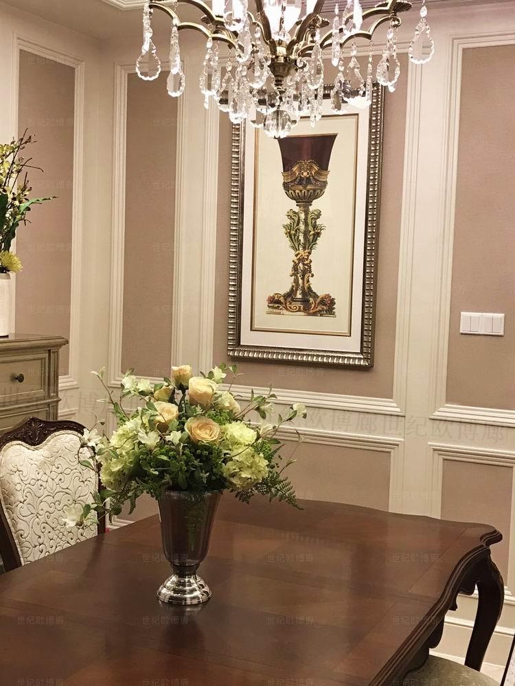纯进口原版画芯经销商美式新古典欧式法式 巴洛克花器 樽 圣杯